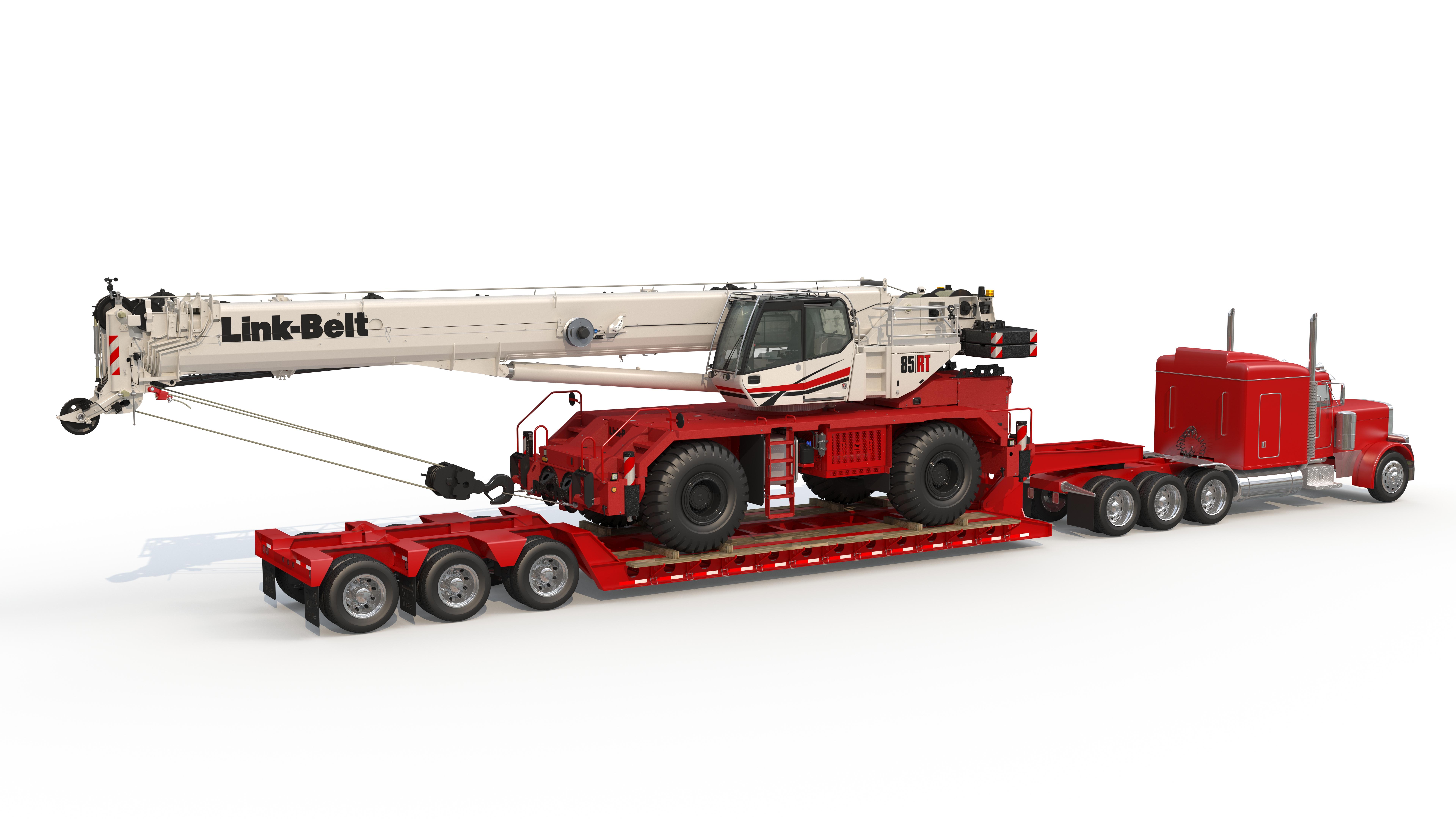85|RT transport for rough terrain crane