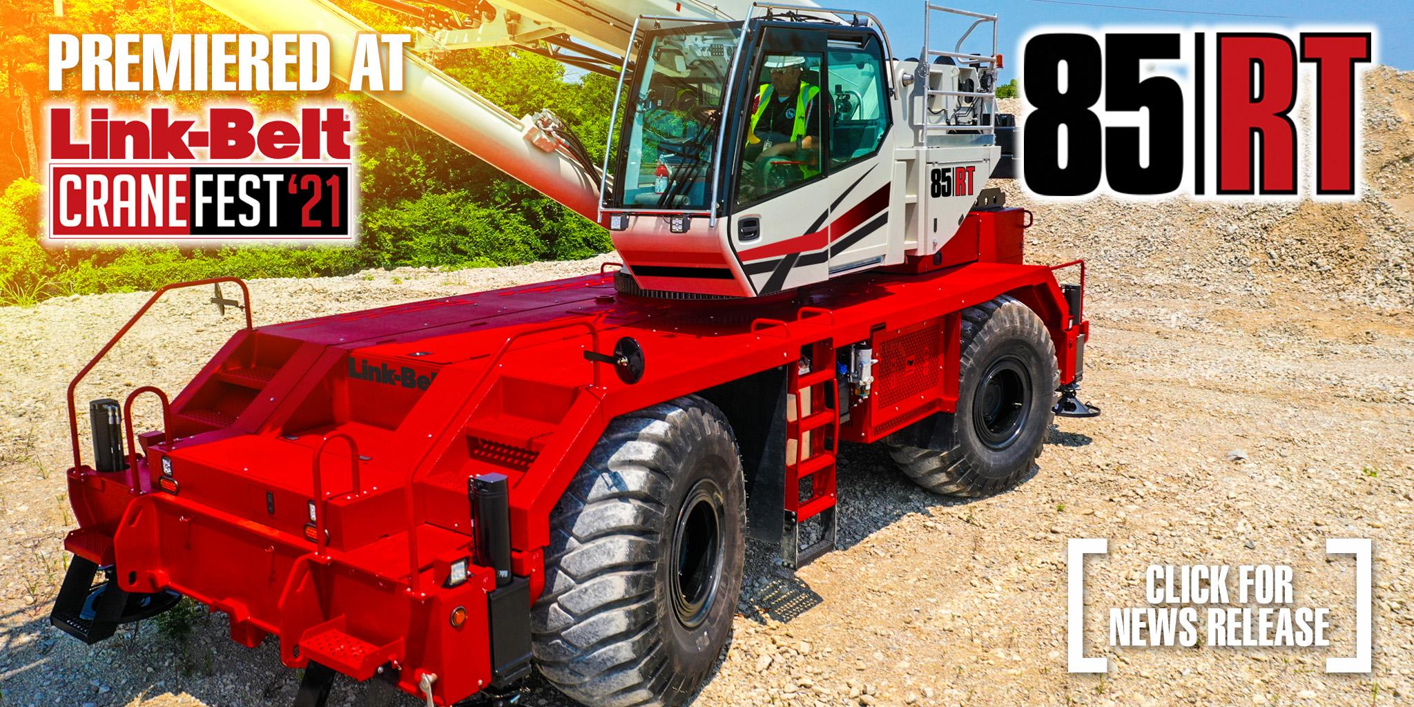 Link-Belt 85 RT rough terrain crane